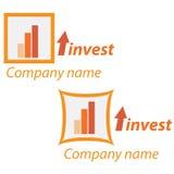 logo för investering för affärsföretag Royaltyfria Bilder