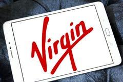 Logo för jungfruligt företag Arkivfoton