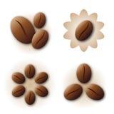 logo för kaffeelementsymbol royaltyfri illustrationer