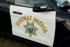 Logo för Kalifornien huvudvägpatrull arkivfoto