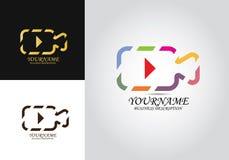 Logo för kameralekdesign royaltyfri illustrationer