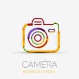 Logo för kamerasymbolsföretag, affärssymbolbegrepp Royaltyfri Fotografi