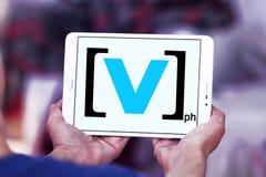 Logo för kanal V royaltyfria bilder