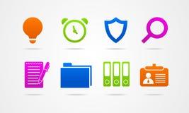 Logo för knapp för tecken för affärssymbolsrengöringsduk Royaltyfri Bild