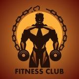 Logo för konditionklubba Stock Illustrationer