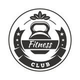 Logo för konditionklubba Arkivfoton