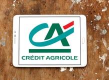 logo för krediteringsagricolebank Arkivbild