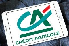 logo för krediteringsagricolebank Arkivfoton