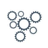 Logo för kugghjulmekanism Arkivbild