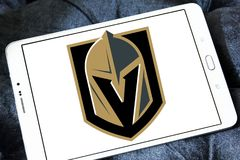 Logo för lag för Vegas guld- riddareishockey Royaltyfria Foton