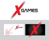 Logo för lekar x royaltyfri illustrationer