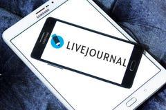 Logo för LiveJournal social nätverkandeservice arkivbilder