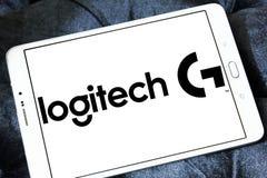 Logo för Logitech internationell teknologiföretag Arkivbilder