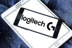 Logo för Logitech internationell teknologiföretag Royaltyfri Bild