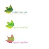 Logo för lutningbladkontur Arkivbilder