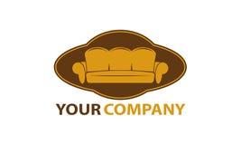 Logo för möblemangföretag royaltyfri illustrationer