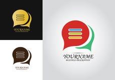 Logo för meddelandepratstundsamtal stock illustrationer