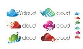 Logo för molnprogramvarulutning Royaltyfri Bild