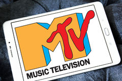 Logo för Mtv-musiktelevision Arkivfoton
