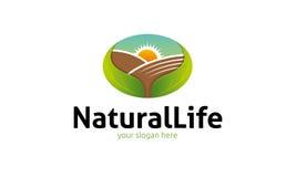 Logo för naturligt liv Royaltyfri Bild