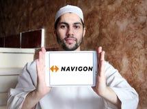 Logo för Navigon GPS navigeringföretag Royaltyfri Foto