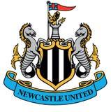 Logo för Newcastle Unitedfotbollklubba Royaltyfri Bild