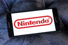 Logo för Nintendo lekbärare royaltyfri foto