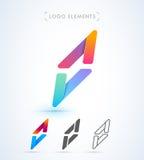Logo för nolla för vektorabstrakt begreppbokstav Royaltyfri Foto