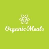 Logo för organisk mat för mål för blommablad sund Arkivbild
