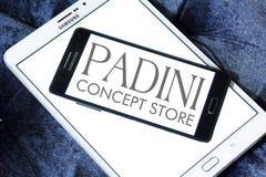 Logo för Padini innehavBerhad företag royaltyfri bild