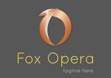 Logo för rävbokstavs'nolla' Arkivbild
