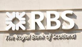 Logo för RBS (Royal Bank av Skottland) Arkivfoto