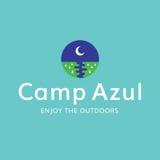 Logo för rekreation för lägermåne utomhus Fotografering för Bildbyråer