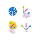 Logo för rengöringsduk för meny för kökaffärssymbol Royaltyfri Foto