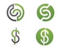 Logo för s-bokstavsfinans Fotografering för Bildbyråer