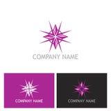 Logo för skönhetstjärnadiamant Royaltyfri Fotografi