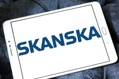 Logo för Skanska konstruktionsföretag Royaltyfri Fotografi