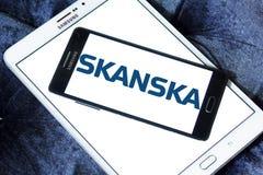 Logo för Skanska konstruktionsföretag Arkivfoton