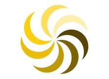 Logo för sommarsolblomma Arkivfoto