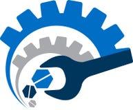 Logo för strömhjälpmedel royaltyfri illustrationer
