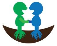 Logo för symbol för partnerskapkamratskapsamarbete Royaltyfri Fotografi