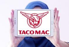 Logo för tacoMac-restauranger Arkivbild