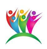 Logo för teamworkframgånggrupp människor Arkivbilder