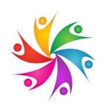 Logo för teamworkswooshfolk Arkivfoto