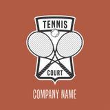 Logo för tenniskursvektor Arkivbilder