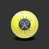 Logo för tennissportvektor Arkivfoto