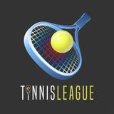 Logo för tennissportvektor Arkivbilder