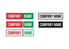 Logo för text endast Fotografering för Bildbyråer