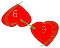 logo för 6 till 9 jobb Royaltyfria Bilder