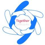 Logo för tillsammans Arkivfoton